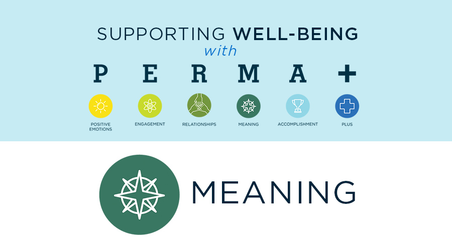 Supporting Well-Being with PERMA+: Meaning