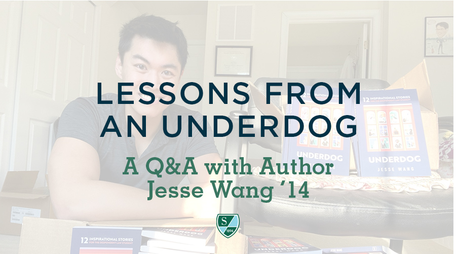 Lessons from an Underdog: A Q&A with Author Jesse Wang '14