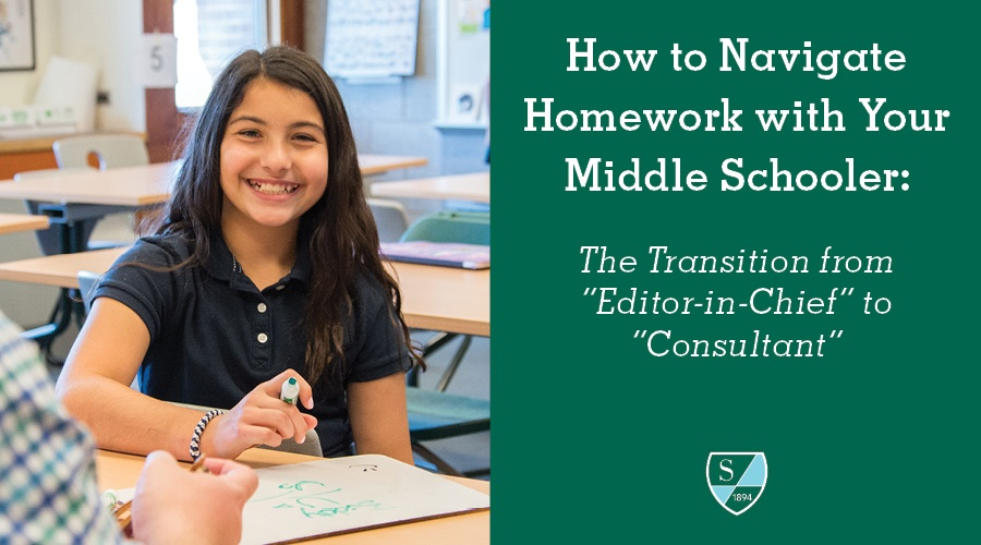 """How to Navigate Homework with Your Middle Schooler: The Transition from """"Editor-in-Chief"""" to """"Consultant"""""""