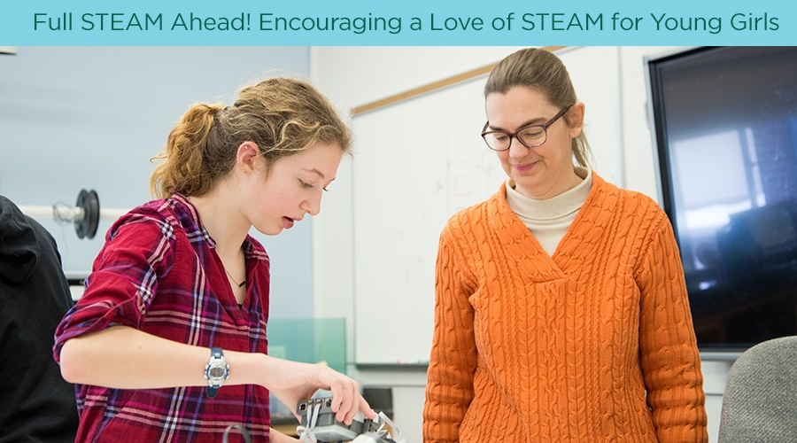 Full STEAM Ahead! Encouraging a Love of STEAM for Young Girls
