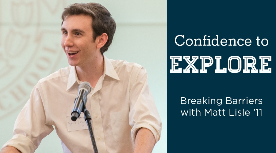 Confidence to Explore: Breaking Barriers with Everwaters Co-Founder Matt Lisle '11